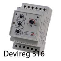 Терморегулятор для систем снеготаяния devireg 316