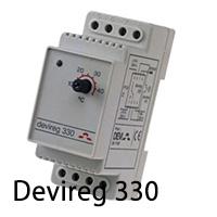 Терморегулятор для систем антиобледенения и обогрева труб devireg 330